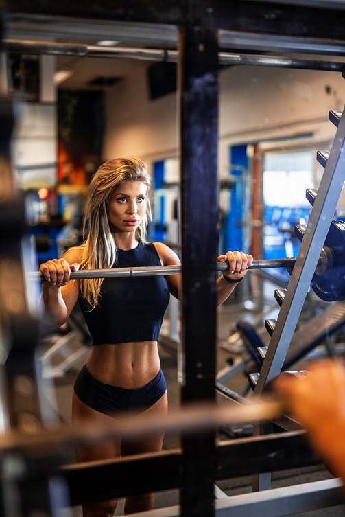 Sheena in the gym 1